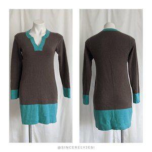 Boden ▪ Colorblock Cashmere Tunic Sweater Dress